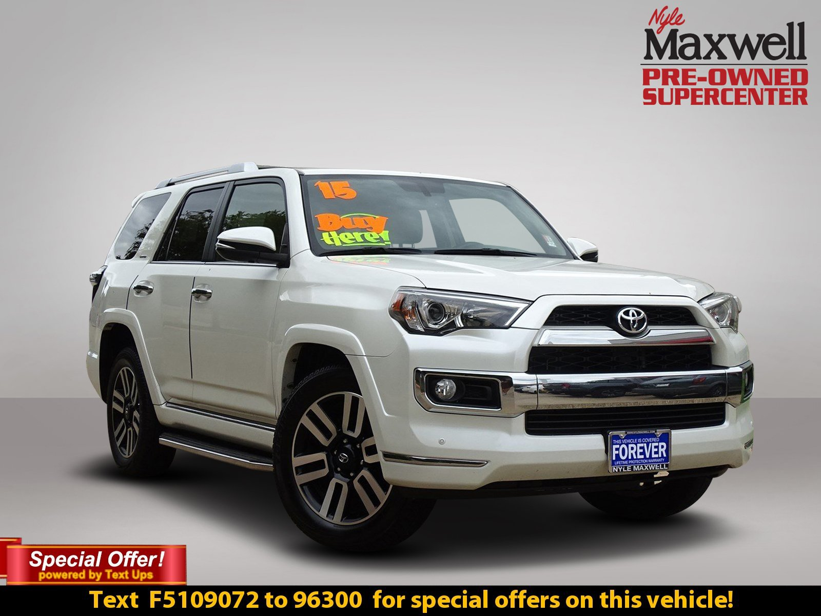 Pre Owned 2015 Toyota 4runner Limited Sport Utility In Taylor 2000 Interior Light